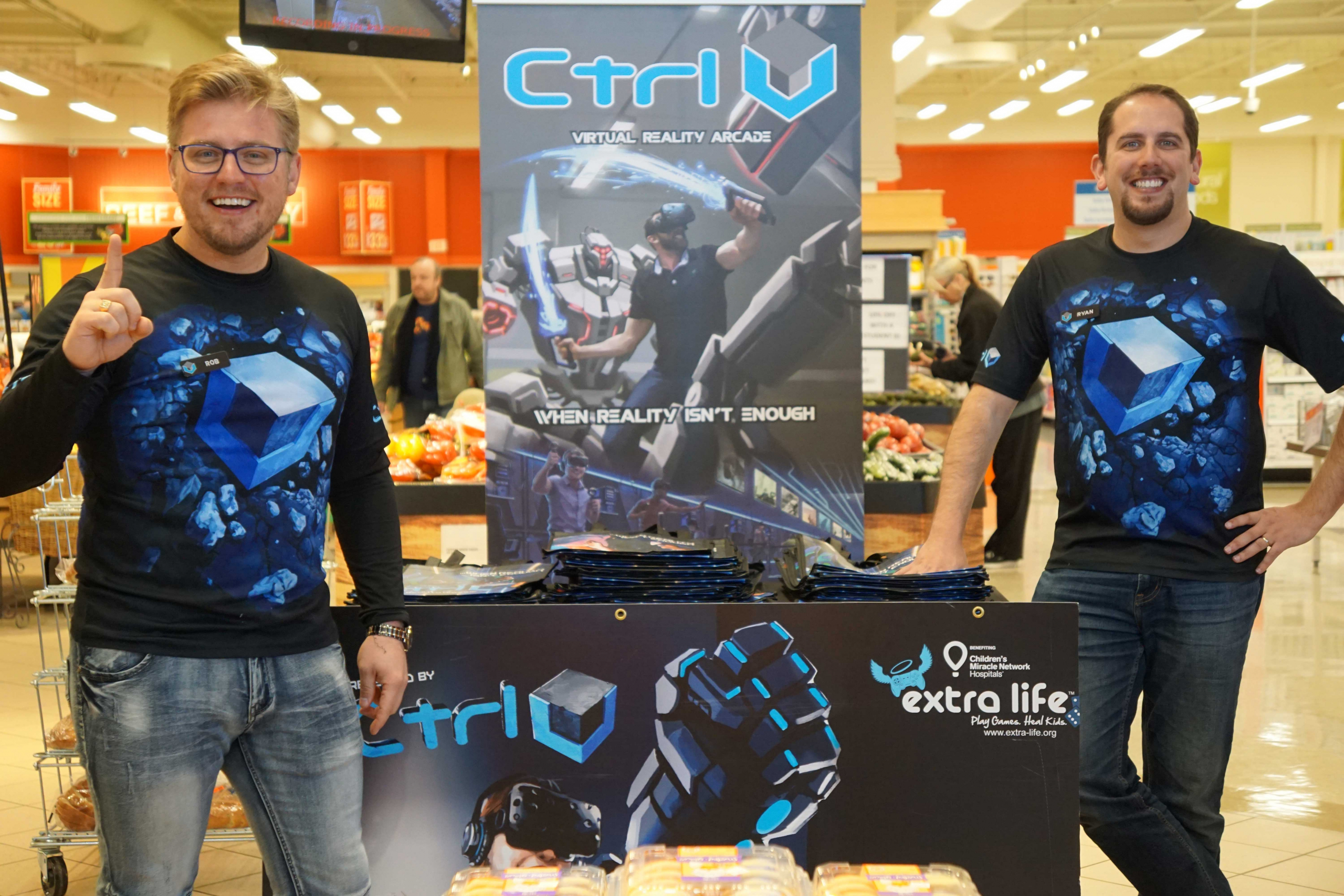 Ctrl V® Extra Life Grocery Bag Handout Robert Bruski & Ryan Brooks